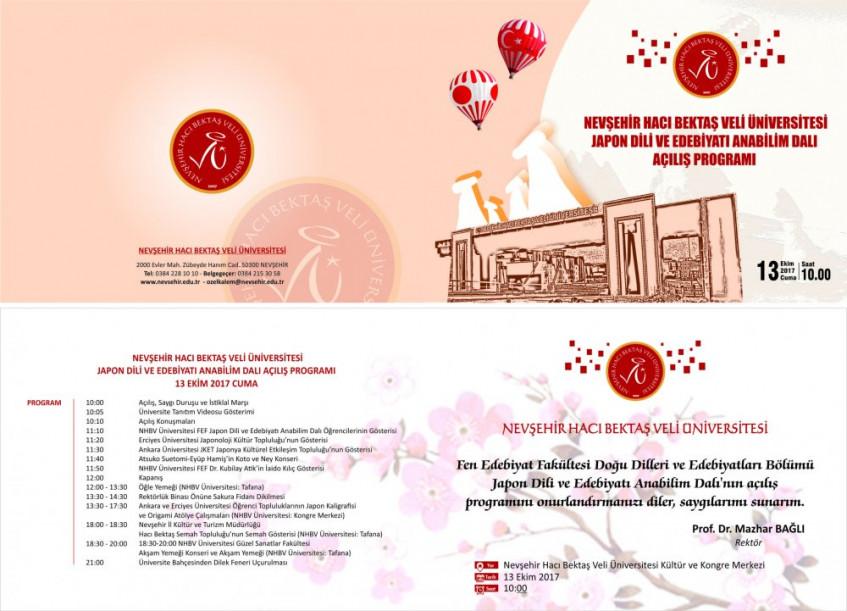Nevşehir Hacı Bektaş Veli Üniversitesi Japon Dili ve Edebiyatı Anabilim Dalı Açılışı